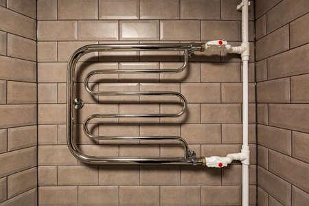 The Towel Rail Chrome bathroom radiator in bathroom