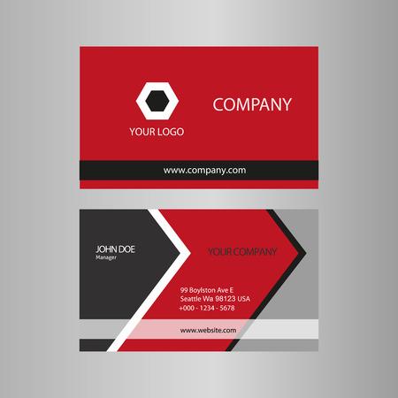 Card template stock Vector