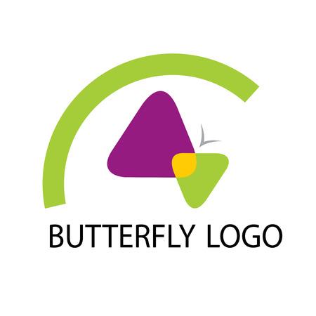butterfly logo template icon vector Vector