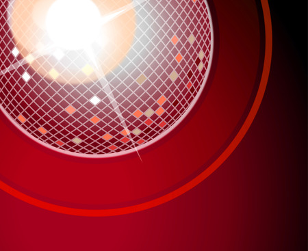 Red crystal ball background image stock photo