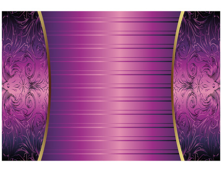 gold design: Hand Drawn Purple Abstract Background Royal Vector