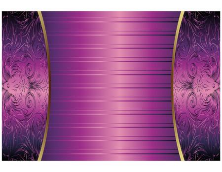 violette fleur: Hand Drawn R�sum� fond pourpre royale Vector Illustration