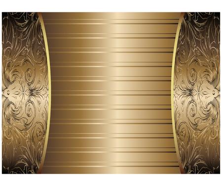 Gold Vintage Background Vector Vector