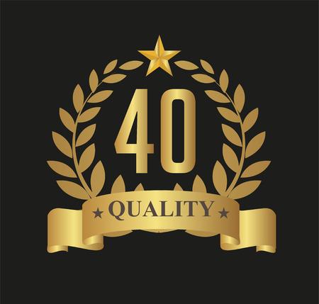 40 Years Anniversary Laurel Wreath Star