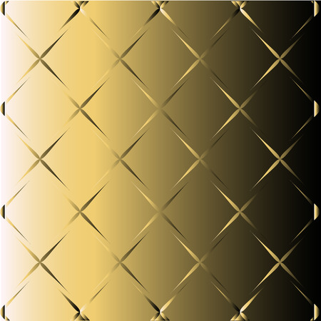 Abstract Golden Black Background With Metallic Vector