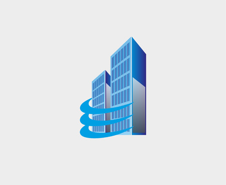 Holding skyscrapers, Business Real Estate building Vector