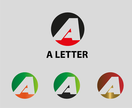 Letter A icon Vector illustration of abstract icons based on the letter A Vector