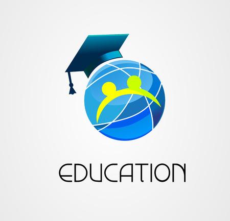Global Education logo vector company Vector