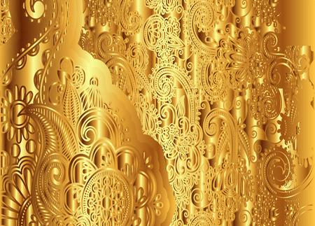 tooled: Golden Floral Vintage Pattern