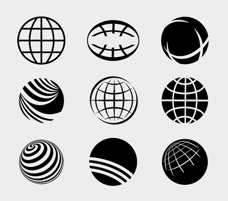 Earth Simple Icons Set  Vector