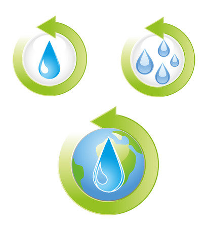 Save Water Icons Illustration Vector