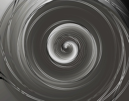 alluminum: Gray curved shiny background template twirl Stock Photo
