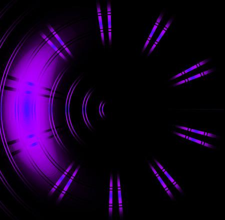 Purple circle neon light Abstract background photo