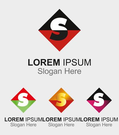 letra s: Icono abstracto para la letra S