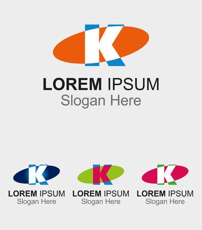buchstabe k: Elip Symbol mit dem Buchstaben K Design