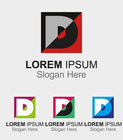 letter d: Letter D design sample icon