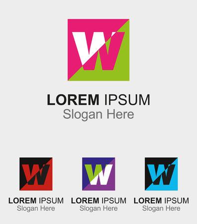 Letter W design sample icon Vector