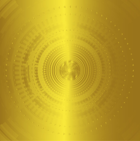golden color: Abstract background technology circles golden color