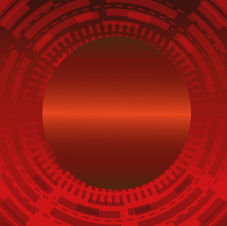 luz roja: Rojo Fondo abstracto del c�rculo t�cnico oscuro