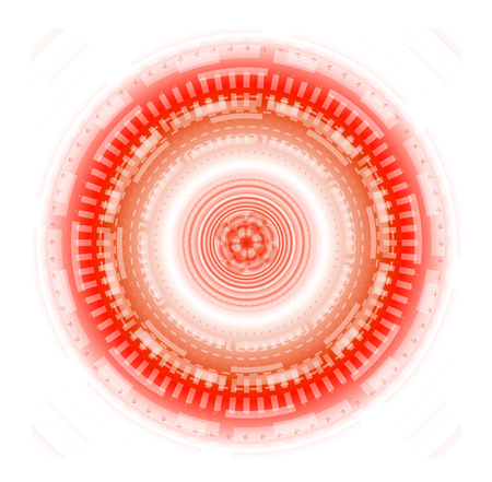 techical: Estratto cerchio rosso sfondo techical