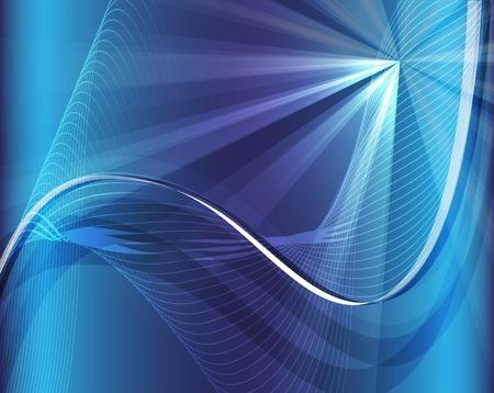 light wave: Sfondo blu onda luminosa