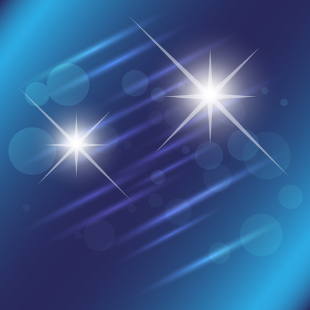 Blue star light effect background Vector