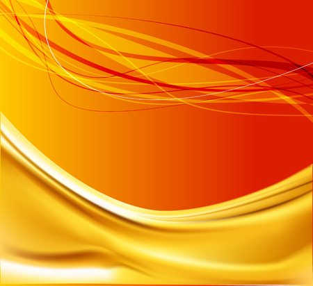 Golden abstract wave background Vector