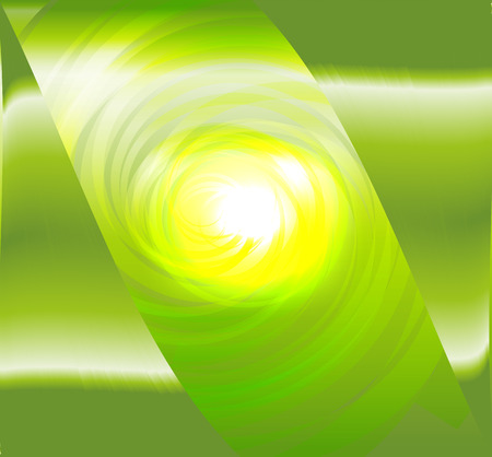 day dreaming: Light green spiral abstract design Illustration