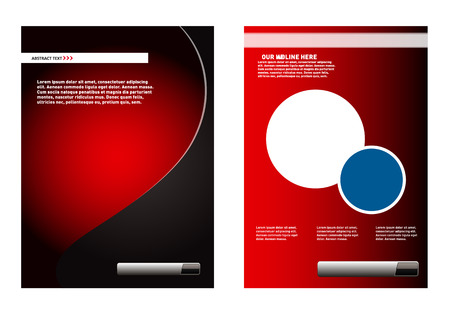 Leaflet design element red background Vector