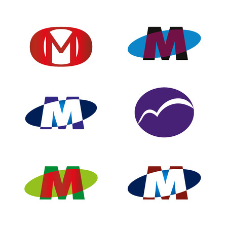 Letter M icon template element Vector