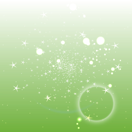Light green circle background with star Illustration