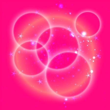 spot lit: Pink circle background with star Illustration