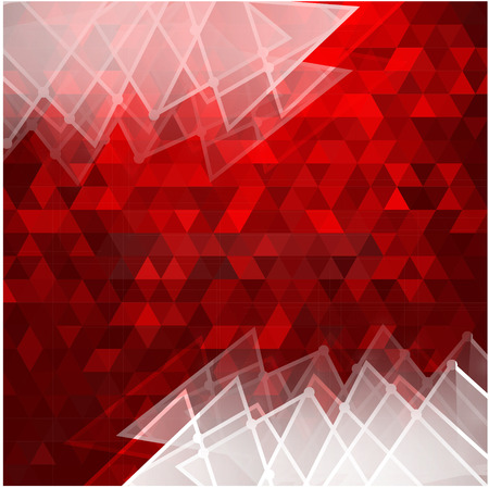Red polygonal background  Vector