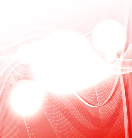 Red wave on white background