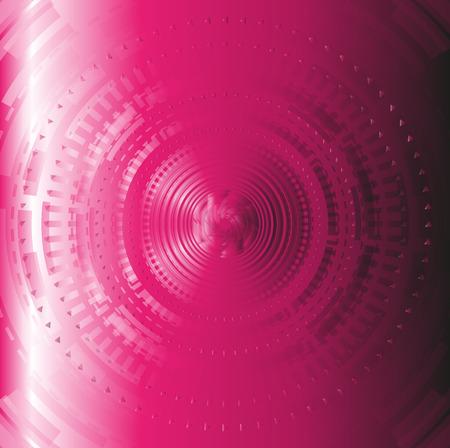 techical: Rosa astratto techical disegno di sfondo cerchio