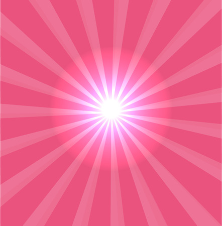 photographic effects: Pink background with lens flare Illustration