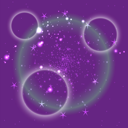 Purple circle background with star