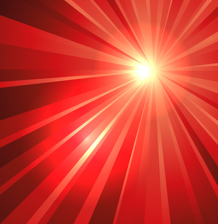 Star burst background in rosso Archivio Fotografico - 31034474