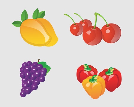 rasberry: fruits collection Illustration