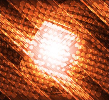 tecnologia virtual: La tecnolog�a virtual de vectores de fondo naranja Vectores
