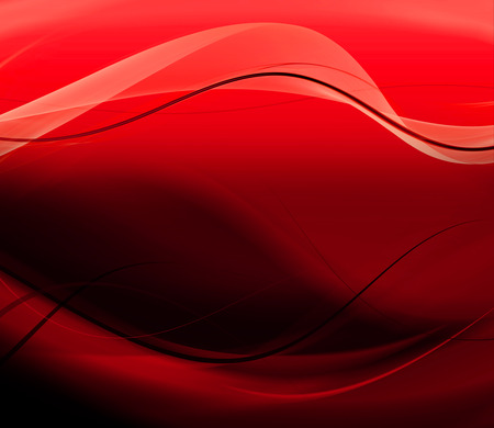 Abstract red smooth waves Vector background photo