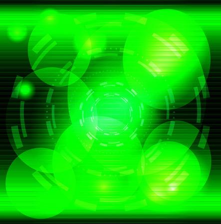Abstract green swirl circle dark background photo