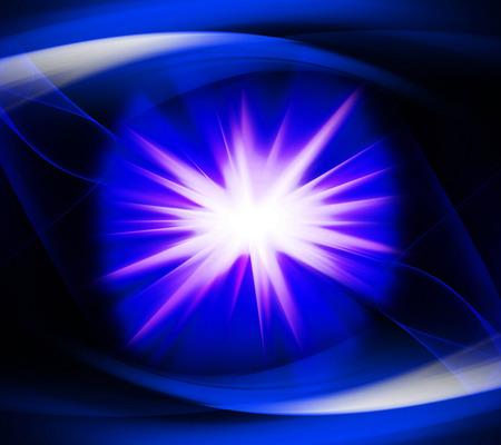 Blue color design with a burst photo