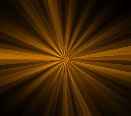 Brown and yellow rays on black background photo