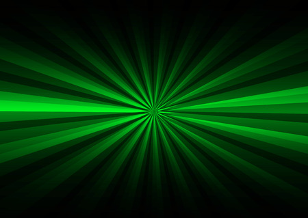 Green rays on black background photo