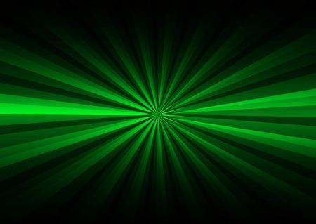 Green rays on black background photo