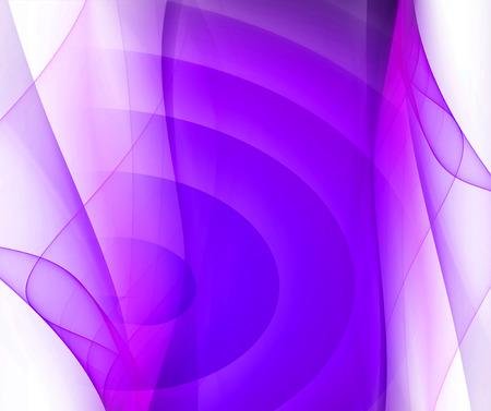 Purple smooth twist light lines on white background photo