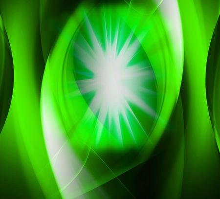 laser radiation: Star burst green background