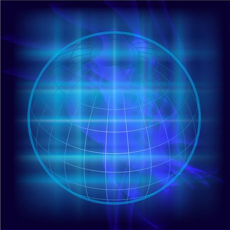Abstract Globe background Illustration