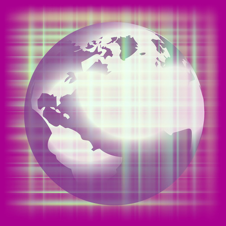Earth space purple background vector Vector